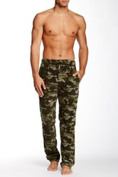 Bottoms Out Micro Fleece Camo Sleep Pant Green