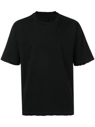 Unravel Project Distressed Printed T Shirt Black