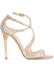 Jimmy Choo 'Lance' Sandals Nude And Neutrals