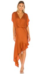 Young Fabulous And Broke X Revolve Theia Dress In Burnt Orange. Copper