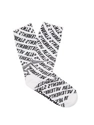 Vetements X Reebok Monogram Cotton Blend Socks White