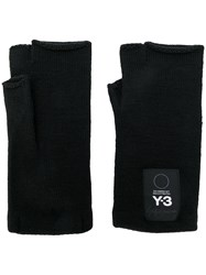 Y 3 Fingerless Gloves Black