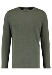 Tom Tailor Denim Basic Crewneck Sweatshirt Woodland Green Oliv