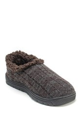 Muk Luks John Faux Fur Slipper Brown