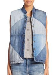 Current Elliott The Patchwork Denim Vest