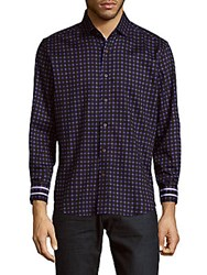 Robert Graham Barnaby Button Down Shirt Purple