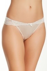 Jezebel Intrigue Thong Beige