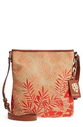 Tommy Bahama Palm Beach Crossbody Bag Blue Coral Combo