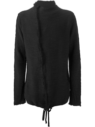 Thom Krom Side Zip Cardigan Black