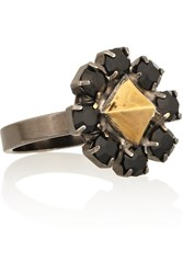 Tom Binns Disengagement Gold Plated Swarovski Crystal Ring