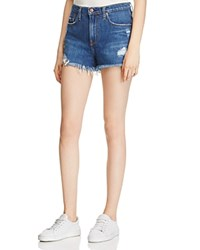 Nobody Highboy Split Denim Shorts In Reclaimed