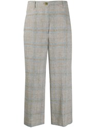 Semicouture Check Wide Leg Trousers 60