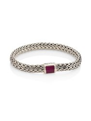 John Hardy Classic Chain Ruby And Sterling Silver Bracelet