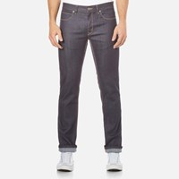 Hugo Men's 708 Slim Fit Unwashed Denim Jeans Raw Blue
