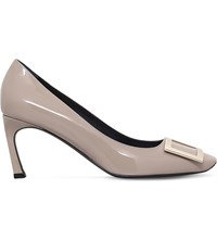 Roger Vivier Belle Trompette Patent Leather Courts Grey