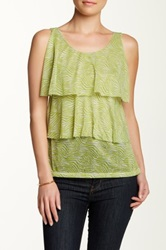 Sweet Pea Printed Tiered Tank Green
