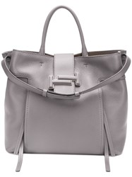 Tod's Double T Tote Grey