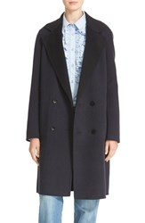 Tibi Women's Reversible Double Face Wool And Angora Long Coat