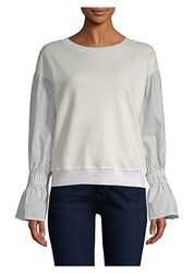 Stateside Contrast Sleeve Sweatshirt Cream