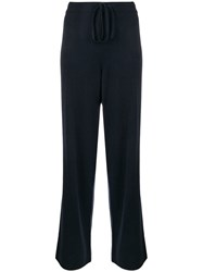 Chinti And Parker Knitted Loungewear Trousers Blue