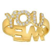 Eden Presley Want And Need Twist Rings 14K Yellow Gold
