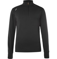 Soar Running Stretch Jersey Mid Layer Running Top Black