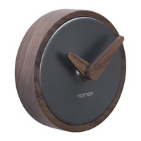 Nomon Atomo Wall Clock Walnut Graphite