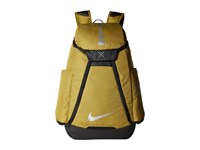 Nike Hoops Elite Max Air Team Backpack Camper Green Black Metallic Silver Backpack Bags Yellow