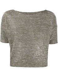 Roberto Collina Metallic Knitted Cropped Top 60