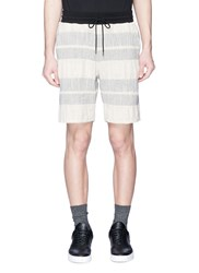John Elliott Contrast Waist Stripe Shorts Multi Colour
