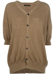 Y's Short Sleeve Cardigan Nude And Neutrals