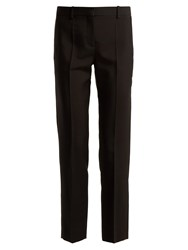 Givenchy Straight Leg Wool Blend Tailored Trousers Black
