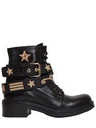 Strategia 30Mm Military Embroidered Leather Boots