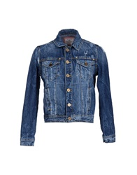 Frankie Morello Denim Outerwear Blue