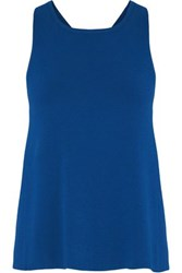 Autumn Cashmere Crossover Stretch Jersey Top Cobalt Blue