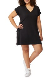Rebel Wilson X Angels Plus Size Women's Corset Side T Shirt Dress Black