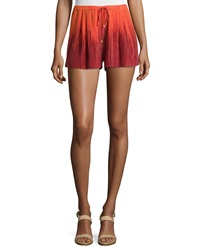Haute Hippie Summer Ombre Shorts Orange Multi