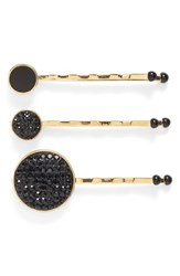 Marc By Marc Jacobs Pave Crystal Disc Bobby Pins Set Of 3