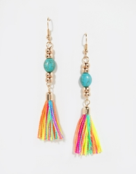 Designsix Multi Tassle Earrings Gold