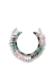 Isabel Marant Ska Beaded Choker Green Multi