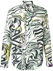 Just Cavalli Abstract Print Shirt White