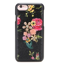 Dolce And Gabbana Embellished Leather Iphone 7 Case Multicoloured