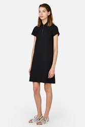 Opening Ceremony Pique Torch Polo Short Sleeve Dress Black