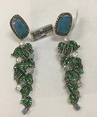 Wendy Yue Opal Vine Earrings Green