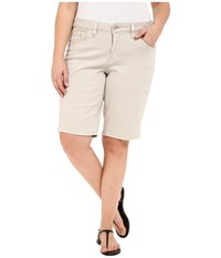 Jag Jeans Plus Size Willa Bermuda In Dolce Twill Stone Women's Shorts White