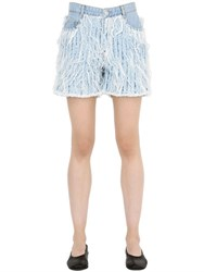 Each X Other Frayed Cotton Denim Shorts