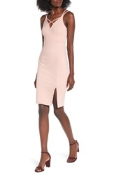 Soprano Women's Strappy Body Con Dress Dusty Rose
