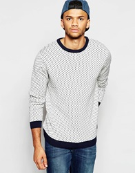 Jack And Jones Jack And Jones Crew Neck Jumper With All Over Jacquard Lillywhite