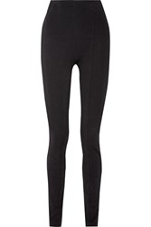 Balmain Stretch Crepe Skinny Pants Black