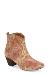 Women's Sbicca 'Petunia' Floral Bootie Brown Multi Leather